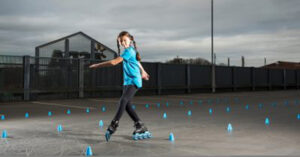 Alice Lean, 11, on the thrill of freestyle skating.